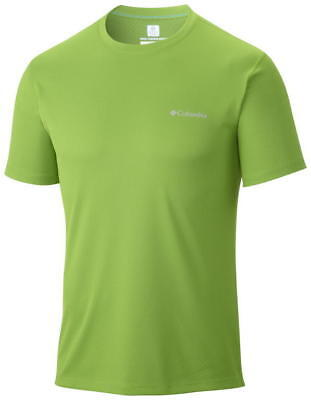 Columbia Zero Rules Short Sleeve Shirt, Mens, Cyber Green, S