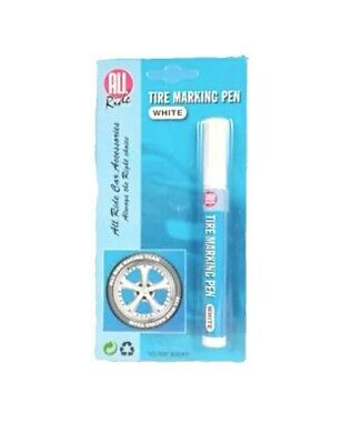5 X Tyre Marking Pen Paint Raised Rubber White Wall Permanent Car Van Truck Bike