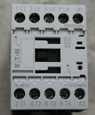 Eaton / Moeller DIL MP20 4-Pole 7KW at 415 VAC Contactor 230 VAC Coil