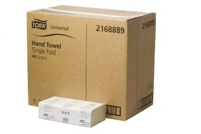 New Tork Sca Tork Sca Universal H31 Hand Towel Single Fold White - 27Cm X 24.5Cm