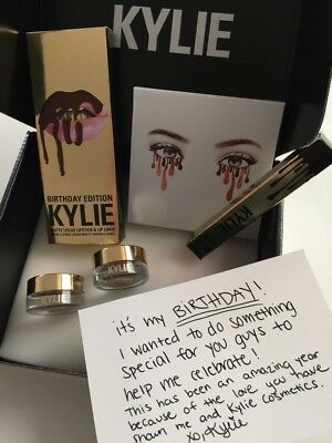 KYLIE Cosmetics  👸🏻👄✨LIMITED GOLD BiRTHDAY EDITION BOX by Kylie Jenner✨👄👸🏻