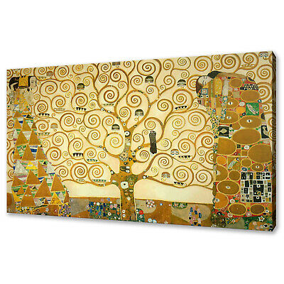 Gustav Klimt The Tree Of Life Stoclet Frieze Canvas Picture Print Wall Art Decor