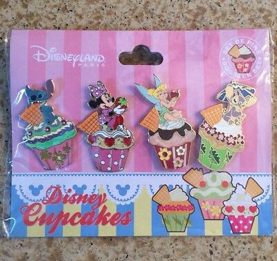 Disney Booster Pack Cupcake Pins FREE LANYARD US SELLER! U PICK BOY/GIRL