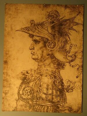 Profile of an Ancient captain Leonardo Da Vinci possibly by Alinari Firenze