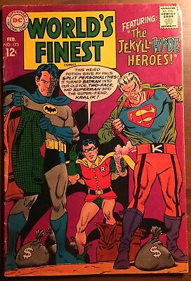 World's Finest #173 VG 1968 1st Silver Age TWO-FACE DC