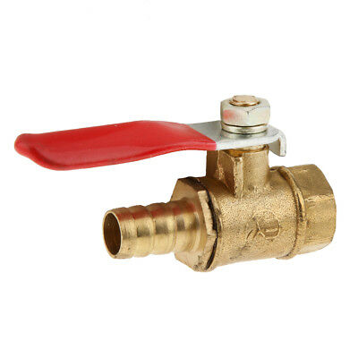Brass Ball Valve 12mm Female to 5/16 Barb Hose Tail Drain Cock Lever Handle