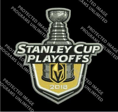 Vegas Golden Knights Patch 2018 Nhl Playoff Puck Style Stanley Cup Champions??
