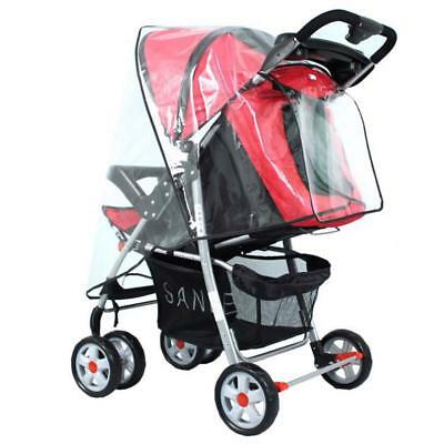 Baby Stroller Rain Cover Accessories Universal Clear Waterproof Dust Shield