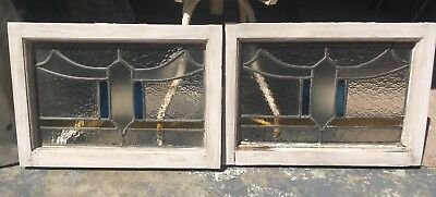 Pair Of Matching Stained Glass Windows