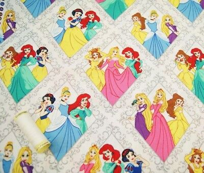 DISNEY PRINCESSES Cotton Fabric by Camelot * Quilting Craft * FQ, Half or Metre