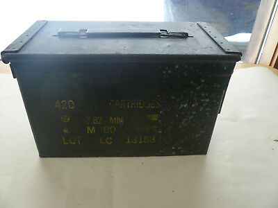 Ammo Can -Box 420 Cartridges Army Military M80 Metal Storage 7.62 MM