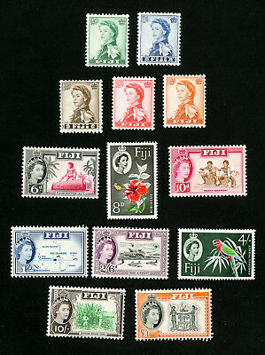 Fiji Stamps # 163-75 VF OG LH Set of 13 Scott Value $46.95