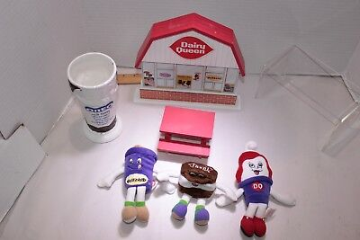 Vintage Original DAIRY QUEEN Building and Plush toys.