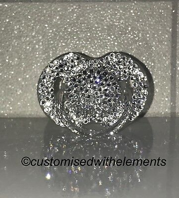 Baby Bling Swarovski Crystal Strass Dummy Pacifier Christening Baby Shower