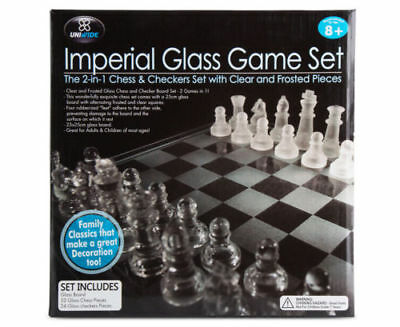 Imperial Glass Chess And Checkers Game Set