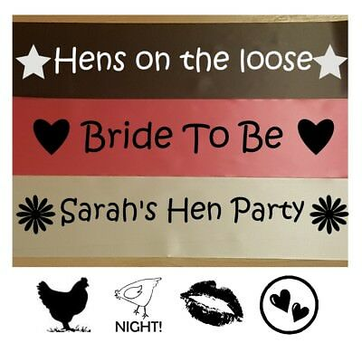 Hen Party Sashes. Bride To Be. Personalised Bridal Shower. Girls Night out. UK
