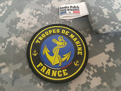 "SNAKE PATCH - écusson TDM "" TROUPES DE MARINE "" France opex Félin SCRATCH armée"