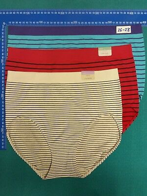 3 CACIQUE SUPER Soft stretch Women's underwear plus 18-28 Nylon Spandex