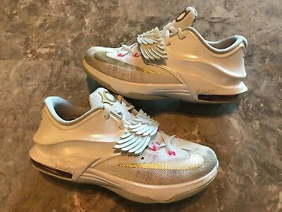 brand new e018c 15094 Nike KD 7 VII GS Premium Aunt Pearl White Gold Pink Size 5.5Y (745407