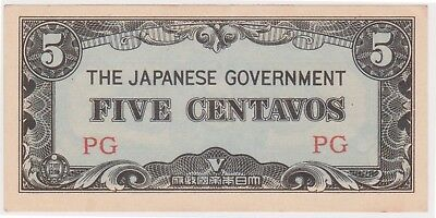 (N13-28) 1942 Japan invasion money 5centavos bank note (O)
