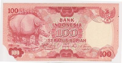 (N13-13) 1977 Indonesia 100 Rupee (space filler) bank note (D)