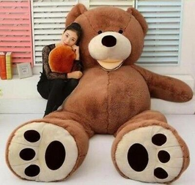 200cm Super Huge Dark Brown Bear (Only Cover) Plush Toy Shell (With Zipper) 79""