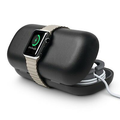 Travel Case Holder Apple Watch Accessories Portable Bedside Charger Stand Black