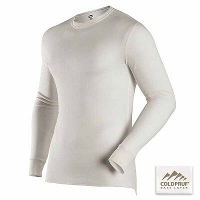COLDPRUF® Base Layer, Men's Basic™ Crew SMALL Winter White 90A SM WW Thermal