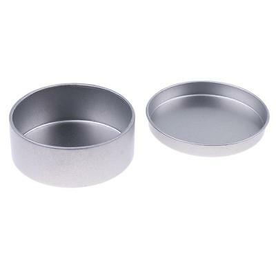 Empty candle tins Silver colour candle container tins Round step lid 65x25mm