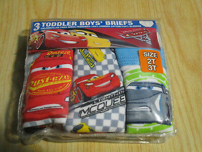 Disney Cars 3 Toddler Boys Briefs - 3 Pack - 2T/3T;4T - NWT!