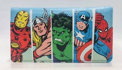 marvel Comics Superhero Genuine Leather Checkbook Cover