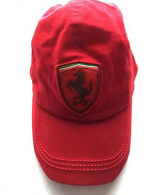 587c341b983 Official Product Ferrari Red Hat Prancing Horse Logo One Size Strap-Back