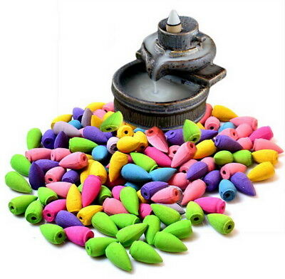 70pcs without Holders Incense Backflow Back Flow Cone Scents Natural Fragrance