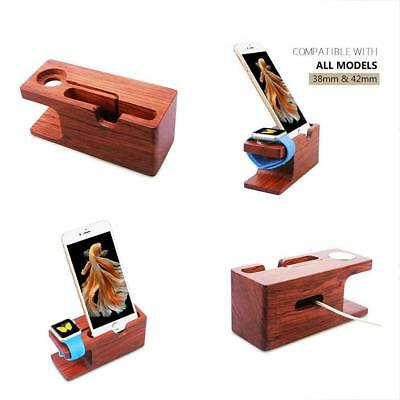 Smart Watch Cables & Chargers Rose Wood Charging Stand Bracket Docking Station