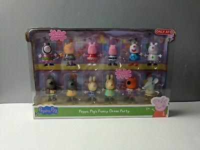NIP Peppa Pig Fancy Dress Party Exclusive Figure 12-Pack