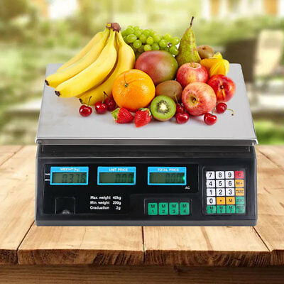 40kg Weighing Digital Scale Electronic Price Computing Home Kitchen Shop Market