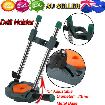 Drill Guide Stand 45° Adjustable Metal Base Electric Drill ∅ 43mm Mobile Swivel