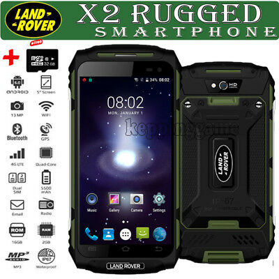 32GB Rugged Discovery Unlocked Android 6.0 3G Smartphone MTK6737 Quad Core Green