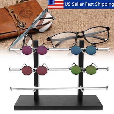 3 Layers Glasses Eyeglasses Sunglasses Show Stand Holder Frame Display Rack