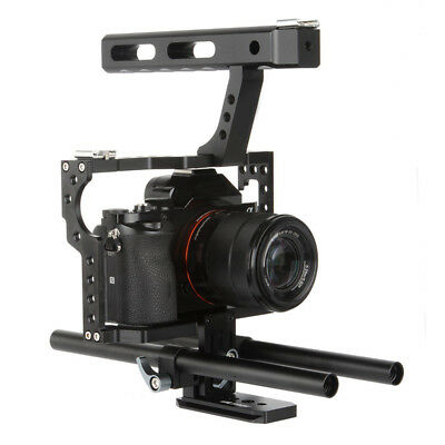 Camera Accessories Durable Camera Cage Stabilizer for Sony A6000 A6300 NEX7 lot-