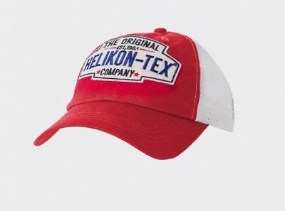 Helikon Tex Trucker Logo Cap - Cotton Twill - Red Mütze