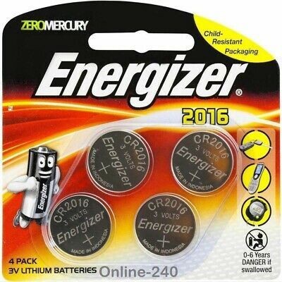 NEW GENUINE ENERGIZER 2016 3V CR2016-DL2016 1PACK = 4x LITHIUM BUTTON BATTERIES