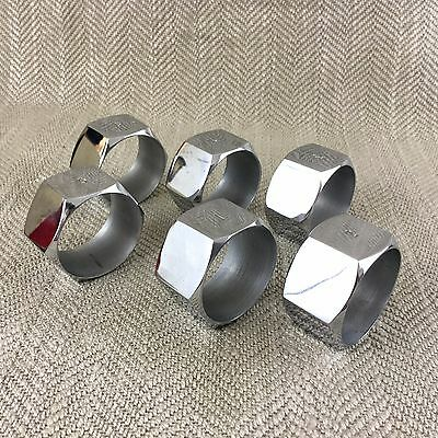 Vintage Nut Napkin Rings Silver Plated Acton Bolt Tools Engineering Mechanical