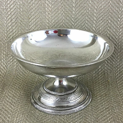 Antique Silver Plate Dish Bowl German Silver Plate Nut Candy Sweetmeat