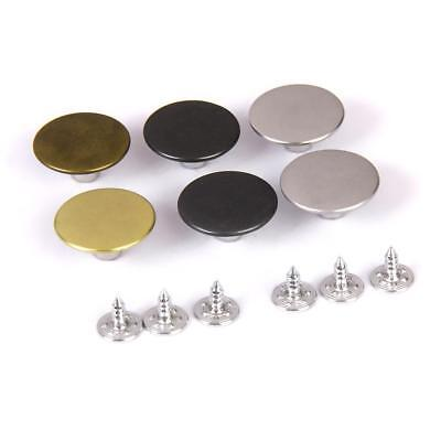 6 SetS Denim Jeans Craft Buttons Studs Rivets Replacement Tack Button 20mm