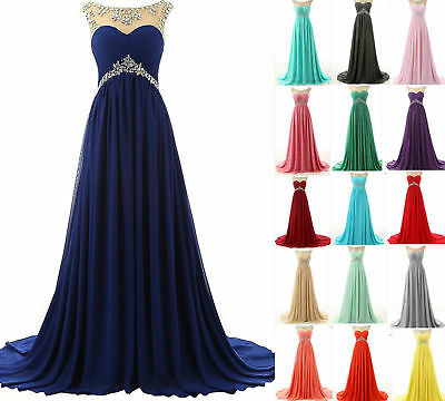 Long Chiffon Evening Formal Ball Gown Party Cocktail Prom Bridesmaid Dresses hot