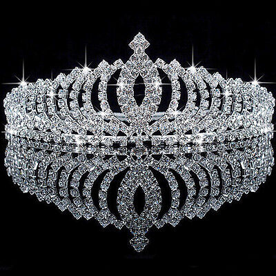 2019 Hot Kids Bridal Flower Prom Wedding Pageant Rhinestone Pearl Crown Tiara UK