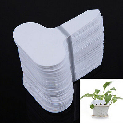 UK Garden Plant Pot Markers Plastic Stake Tags Nursery Seed Labels 100Pcs/Lot