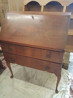 Writing bureau traditional 40s 50s writing desks with key