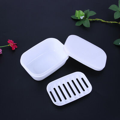 Portable Travel Soap Dish Box Case with Lid Seal Leak-proof Anti Fall Slip Tool